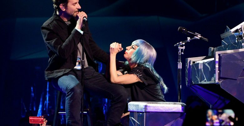Gaga and Cooper perform Shallow live