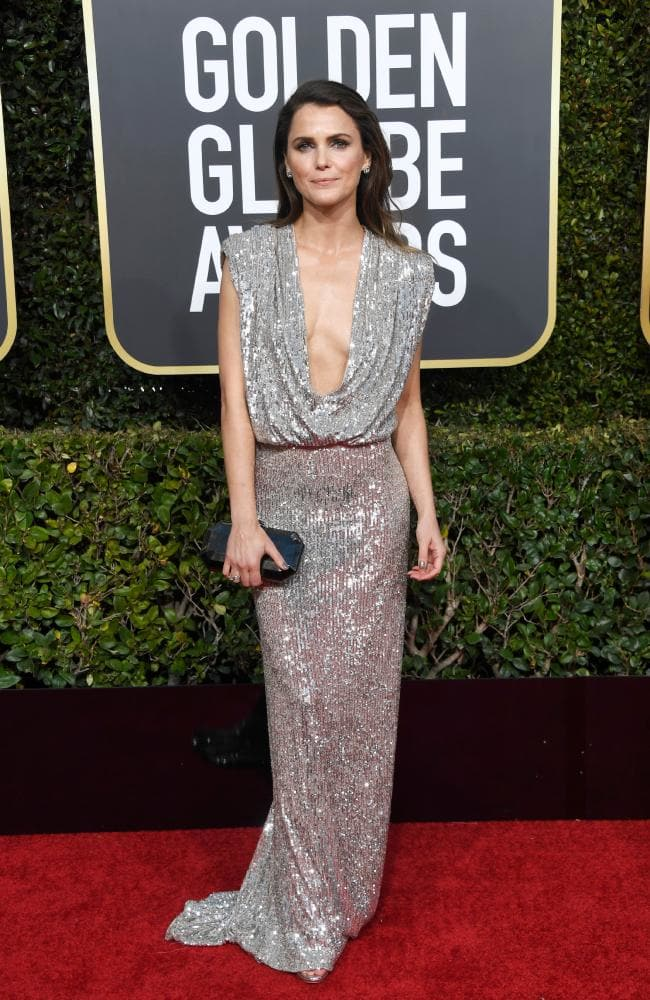 Keri Russel dress golden globes