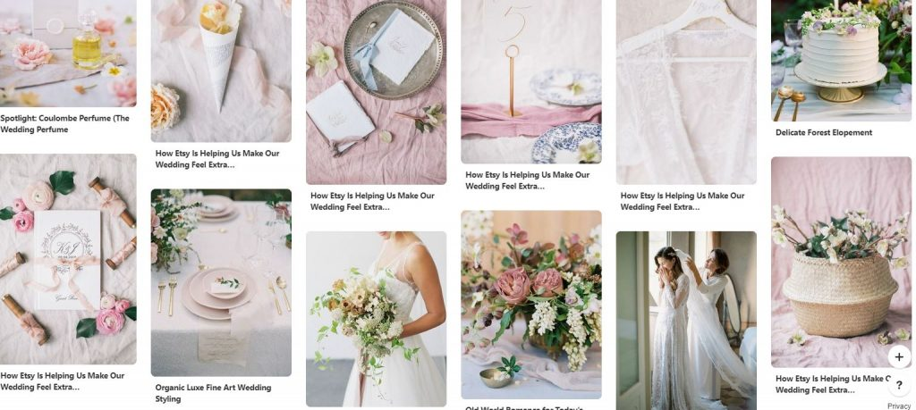 bridal Pinterest boards